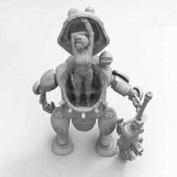 SALE 1/35 Resin Figure Model Kit Gefechtsroboter Hammerschla