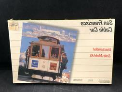 Testors San Francisco Cable Car 1:48 Scale Plastic Model Kit