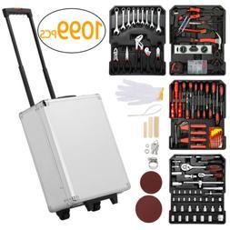 1099PCS Tool Box Organizer Tool Box with Tools Mechanic Kit