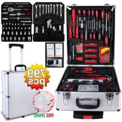 799 pcs Tool Set Trolley Mechanics Metric Standard Kit Case