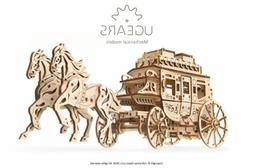 UGears Stagecoach mechanical wooden model KIT 3D puzzle Asse