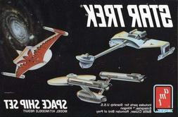 STAR TREK: Space Ship Model Kit ENTERPRISE, KLINGON, ROMULAN