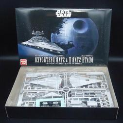 Bandai Star Wars Plastic Model Death Star II 1//2,700,000 /& Star Destroyer 1//14,5