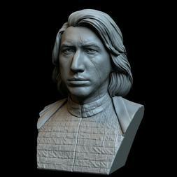 Star Wars Kylo Ren Bust 3D Printed SLA Resin Model Garage Ki