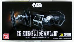 Bandai Star Wars Vehicle Model 007 Tie Advanced x1 & Fighter