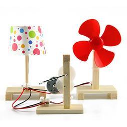 Delinx STEM Building Toy DIY Project Hand Crank Power Genera