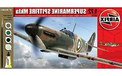 Airfix Supermarine Spitfire MkIa Set W/ Glue, Paints,& Brush