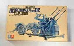 TAMIYA 1/35 Scale Model Kit # MM191 20mm GERMAN FLAKVIERLING