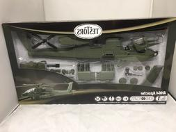 TESTORS AH64 APACHE HELICOPTER PLASTIC MODEL KIT, 1/32
