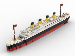 LEGO Titanic Model Building Blocks Kit Built Using REAL LEGO