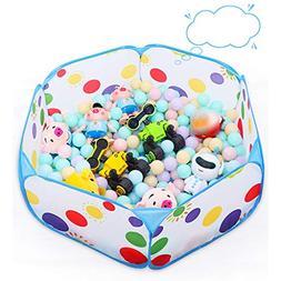 Gbell Toddler Ball Pit Playpen Pop Up Play - Zipper Storage