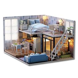 Softmusic Toys for Children Kids DIY 3D Wooden Doll House Mo