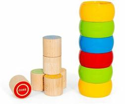 Brio TUMBLE & STACKING TOWER Baby Infant Toddler Wooden Toy