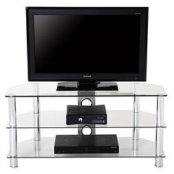 Fenge Tv Stand with Clear Tempered Glass for up to 46 Inch F