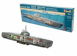 U-Boat Type XXI German Submarine w/Interior 1/144 Revell Ger