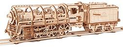 Ugears Locomotive with Tender Model 3d Puzzle For Adults Woo