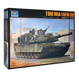 Trumpeter US M1A1 AIM MBT Tank Plastic Model Kit, 1/16 Scale
