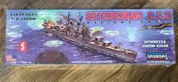 USS MANCHESTER LIGHT CRUISER LINDBERG NEW SEALED MODEL KIT 1