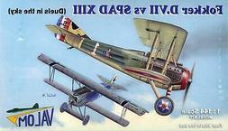 Valom Models 1/144 FOKKER D.VII versus SPAD XIII Four Kits i