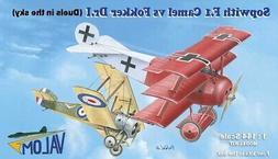 Valom Models 1/144 SOPWITH F.1 CAMEL versus FOKKER Dr.I TRIP