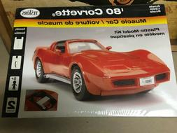 Vintage Testors 1:24 scale 1980 Corvette model car kit.