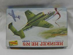 Vintage 1965 Lindberg Line Airplane Model HEINKEL HE 162 1/7