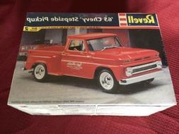 "Vintage ""65 Chevy Stepside Pickup Model Car Kit By Revell"