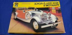 Vintage Testors 833 1934 Rolls Royce Phantom II 1/24 Model C