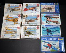 Vintage Lot of 10  1/72  Airplane Model Kits Airfix ERTL Rev