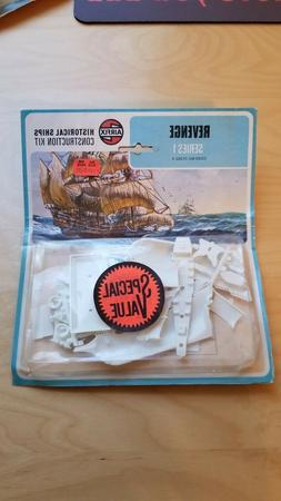 Vintage Airfix Revenge; Historical Ships 1973 Series 1 Const