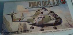 vintage sa 330 puma helicopter model toy