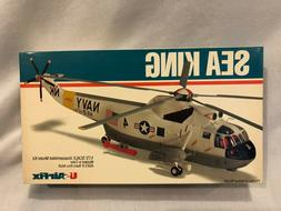 Vintage US Airfix Sea King Helicopter Military Navy 1/72 Mod