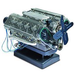 Visible V8 Internal Combustion Ohc Engine Motor Working Mode