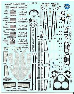 Warbird Decals Space Shuttle Tile, Nose, Engine Details Part
