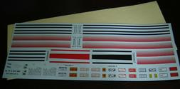 Waterslide Decal sheet Model Car & Truck Kits 1/25 LINE GRAP