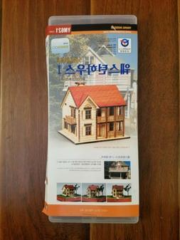 Young Modeler Western House I Wooden Model Kit YM621 HO Scal