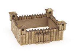 "Darice Wood Model Kit - Old West Fort 5 3/4"" x 2 3/8"""