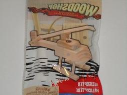 Wood Shop Wood Model Kit - U Build Real Wooden HELICOPTER To