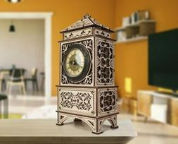 Wooden 3D Puzzle Model Kit Wood Trick Classic Clock Mechanic