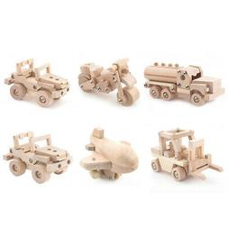 Wooden DIY Assembly Car Truck Vehicle Model 3D Puzzles Kids