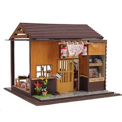 Rylai 3D Puzzles Wooden Handmade Miniature Dollhouse DIY Kit