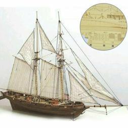 Wooden Sailing Boat Model DIY Kit Ship Assembly Decoration G