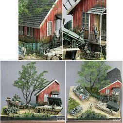 World War II Gerrman Soldier Shelter House Wood Cabin 1/35 S