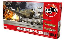 Airfix WWII Curtiss P-40B Warhawk 1:48 Military Aircraft Pla