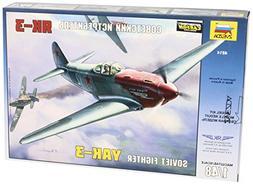 Zvezda Models YAK-3 Yakovlev Soviet WWII Fighter Aircraft Bu